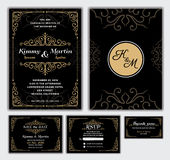 Elegant Wedding Invitation Design Template. Royalty Free Stock Images