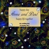 Elegant wedding invitation Royalty Free Stock Photography