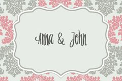 Elegant wedding invitation Stock Images