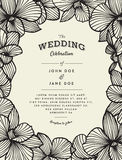 Elegant wedding invitation with orchid flowers Stock Images
