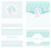 Elegant wedding invitation set Stock Image