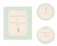 Elegant wedding invitation set Stock Photography