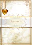 Elegant wedding invitation or valentine's day card in vintage st Stock Photo