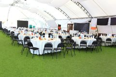 Elegant wedding reception area Stock Photography