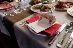 Elegant wedding reception catering, luxury table arrangement - f Royalty Free Stock Image