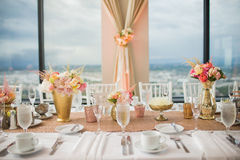 Wedding Reception Centerpieces Stock Photography