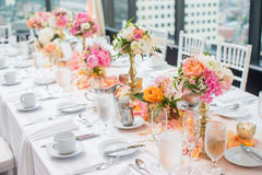 Wedding Reception centerpieces stock photography
