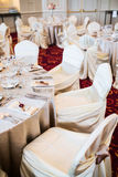 Elegant wedding seating Royalty Free Stock Photography