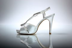 Elegant wedding shoe Royalty Free Stock Photos