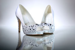 Elegant wedding shoes Stock Image