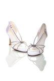 Elegant wedding shoes Stock Photography