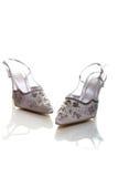 Elegant wedding shoes Royalty Free Stock Image