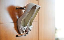 Elegant wedding shoes. Stock Images