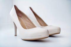 Elegant wedding shoes Royalty Free Stock Images