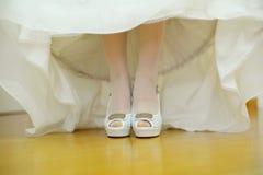 Elegant Wedding Shoes Stock Images