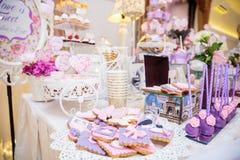 Elegant wedding table decoration Royalty Free Stock Image