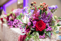 Elegant wedding table decoration Royalty Free Stock Photos