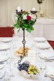 Elegant wedding table decoration Stock Image