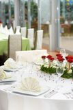 Elegant Wedding Table Setting Stock Photo