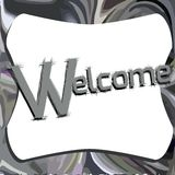 Elegant welcome illustration Royalty Free Stock Photos