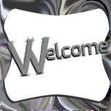 Elegant welcome illustration Royalty Free Stock Photos