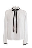 Elegant white blouse with frills Stock Photography