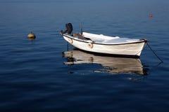 Elegant white boat Stock Photography