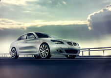 Elegant White Car Royalty Free Stock Image