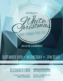 Elegant White Christmas party flyer. Simple and elegant White Christmas party flyer invitation Stock Photos