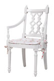 Elegant white dining chair, with clipping path Royalty Free Stock Photo