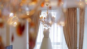 Elegant white dress. stock video footage