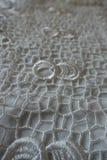 Elegant white retro-styled crochet lace fabric Stock Images