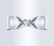 Elegant White Silk Bow Stock Photos
