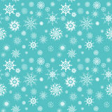 Elegant white snowflakes of various styles Royalty Free Stock Image