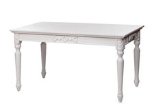 Elegant white table, with clipping path Stock Photos