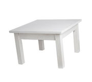 Elegant white table, with clipping path Stock Photo