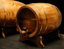 Elegant wine barrels Stock Image