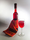 Elegant wine decoration Royalty Free Stock Images