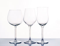 Elegant wine glasses. Royalty Free Stock Photo