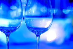 Elegant wine glasses Stock Photo