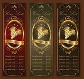 Elegant wine list concept Stock Images