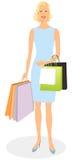 Elegant winkelend meisje Stock Afbeelding