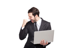 Elegant winner businessman Stock Photo
