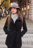 Elegant winter fashion. Royalty Free Stock Photo