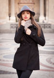 Elegant winter fashion. Royalty Free Stock Image
