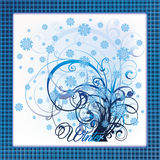 Elegant winter tree card Stock Photography