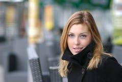 Elegant winter woman Stock Images