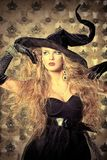 Elegant witch Stock Photo