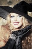 Elegant witch Royalty Free Stock Photo