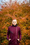 Elegant woman in autumn park Stock Image